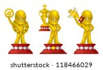 3 racing prize at the base ... | Shutterstock .eps vector #118466029