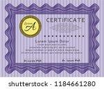 violet certificate. cordial... | Shutterstock .eps vector #1184661280