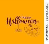 halloween vector design with...   Shutterstock .eps vector #1184666563