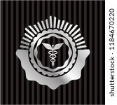 caduceus medical icon inside... | Shutterstock .eps vector #1184670220