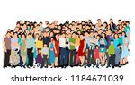 isolated  set of people crowd... | Shutterstock .eps vector #1184671039