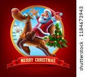 santa claus christmas... | Shutterstock .eps vector #1184673943