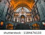 antwerp train station belgium | Shutterstock . vector #1184676133