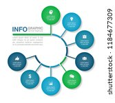 vector infographic template for ... | Shutterstock .eps vector #1184677309