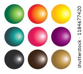 set of colourful gradient... | Shutterstock .eps vector #1184677420