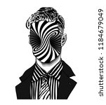 hand drawn portrait of a... | Shutterstock .eps vector #1184679049
