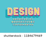 vector of stylized modern font... | Shutterstock .eps vector #1184679469