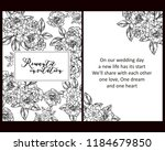 vintage delicate greeting... | Shutterstock . vector #1184679850