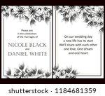 romantic wedding invitation... | Shutterstock .eps vector #1184681359