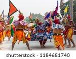 cham is the dance of tibetan... | Shutterstock . vector #1184681740