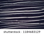 silver chains on a black... | Shutterstock . vector #1184683129