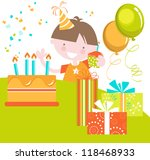 birthday boy  bright colourful... | Shutterstock .eps vector #118468933