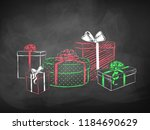 color chalk vector sketches of... | Shutterstock .eps vector #1184690629