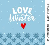 winter background with hand... | Shutterstock .eps vector #1184695486