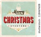 vintage christmas card   jpg... | Shutterstock . vector #118469608