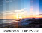 sunset of larino beach on the... | Shutterstock . vector #1184697010