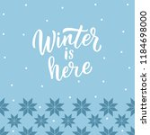 winter background with... | Shutterstock .eps vector #1184698000