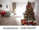 beautiful decorated christmas...   Shutterstock . vector #1184700499
