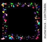 confetti. colorful confetti on... | Shutterstock .eps vector #1184706886