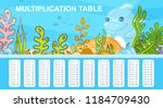 vector multiplication table in... | Shutterstock .eps vector #1184709430
