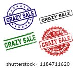 crazy sale seal prints with... | Shutterstock .eps vector #1184711620