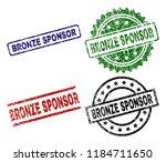 bronze sponsor seal prints with ...   Shutterstock .eps vector #1184711650
