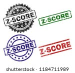 z score seal prints with... | Shutterstock .eps vector #1184711989