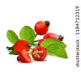 beautiful fragrant rosehip.... | Shutterstock .eps vector #1184712319
