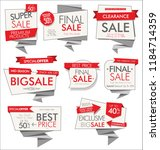 modern sale banners and labels | Shutterstock .eps vector #1184714359