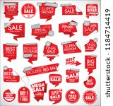 modern sale banners and labels | Shutterstock .eps vector #1184714419