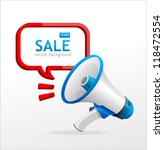 vector megaphone speech... | Shutterstock .eps vector #118472554