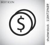 cent vector icon eps10 | Shutterstock .eps vector #1184729689