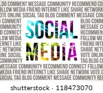 social media. decorative... | Shutterstock .eps vector #118473070