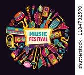 music festival. music... | Shutterstock .eps vector #1184732590