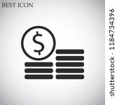 cents vector icon 10 eps | Shutterstock .eps vector #1184734396