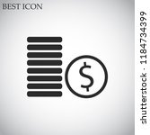 cents vector icon 10 eps | Shutterstock .eps vector #1184734399