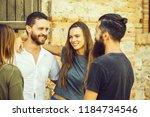 couple of handsome bearded man... | Shutterstock . vector #1184734546