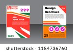 book cover vector modern... | Shutterstock .eps vector #1184736760