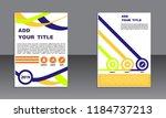 book cover vector modern... | Shutterstock .eps vector #1184737213