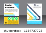 book cover vector modern... | Shutterstock .eps vector #1184737723
