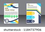 book cover vector modern... | Shutterstock .eps vector #1184737906