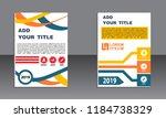 book cover vector modern... | Shutterstock .eps vector #1184738329