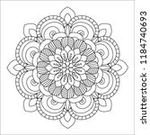 flower mandala illustration.... | Shutterstock . vector #1184740693