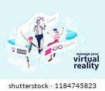 modern virtual reality show   Shutterstock .eps vector #1184745823