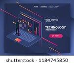 business technology in modern...   Shutterstock .eps vector #1184745850