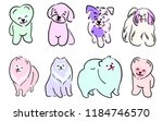 a set of illustrations of dogs. ... | Shutterstock .eps vector #1184746570