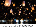 loy krathong and yi peng... | Shutterstock . vector #1184749060