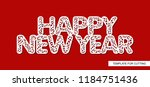 words happy new year. lace... | Shutterstock .eps vector #1184751436