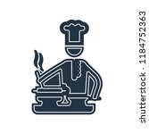 chef cooking on stove icon... | Shutterstock .eps vector #1184752363