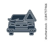 car icon vector isolated on... | Shutterstock .eps vector #1184757466